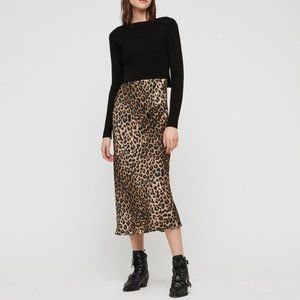 Allsaints Hera Leppo Leopard Dress and Sweater